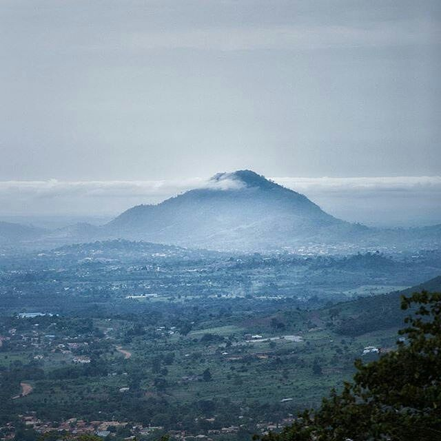 "The Lonely Mountain. Credit: @pkopoku from our ride up into the Aburi hills this morning. 'Now to find Smaug"". #landscape #clouds #hills #aburi #ghana #sky #Erebor"