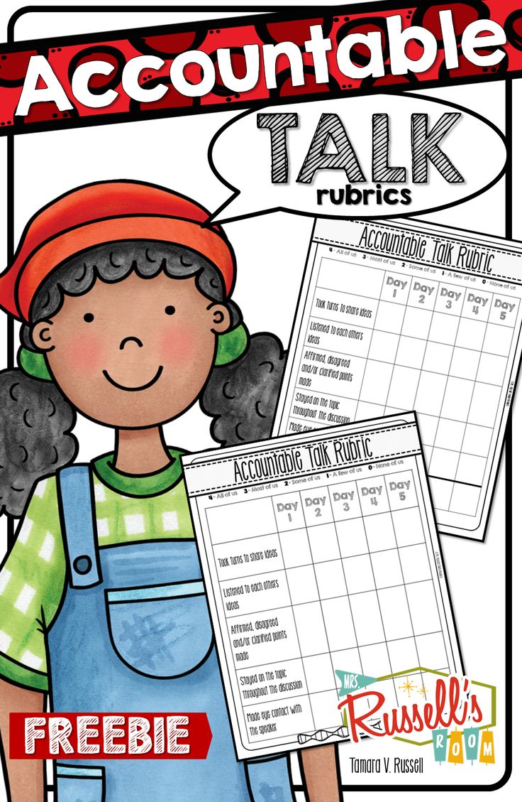 Some quick accountable talk rubrics that you can use with intermediate learners to guide them into independence with their table talk time.