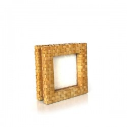 for 4x4 inc : Photo Frame by Mango Wood, weaving w/sugar palm leaves for 4x4 inc 53268-NAT-PLD002