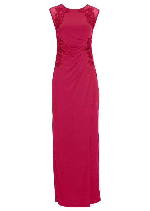 Tieto krásne šaty majú skvelú čipkovanú aplikáciu. Dĺžka vo veľ. 36/38 cca 146 cm.