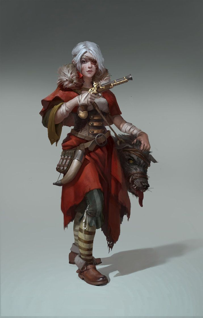 f Ranger w Boar Head pistol dagger Red Riding Hood by CG-sister on DeviantArt