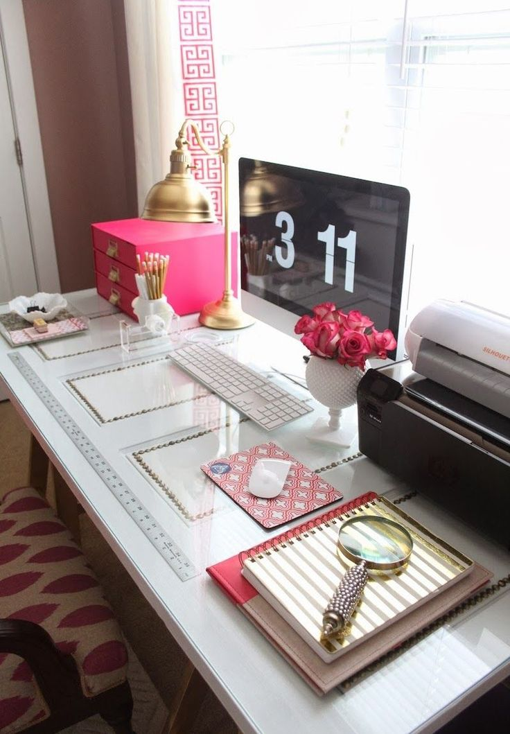 KATE SPADE INSPIRED OFFICE: white and gold