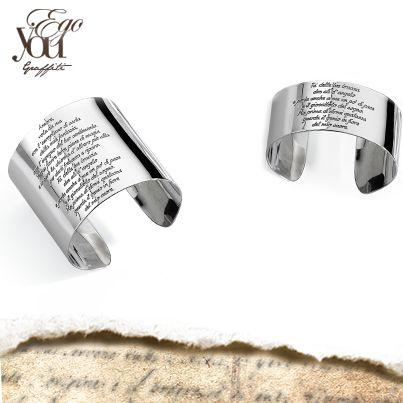 Bracciali schiava in argento 925°° con incisione personalizzabile.