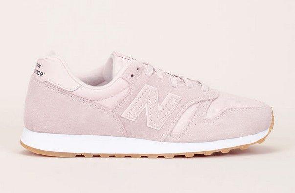 New Balance 373 Sneakers bi-matière rose pâle détails nubuck