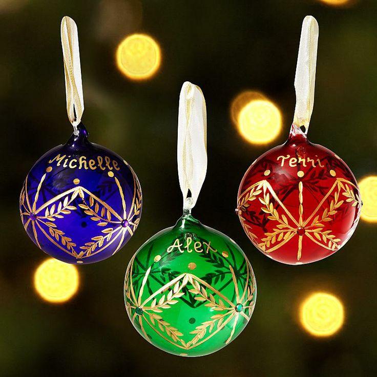 Elegant Glass Birthstone Ornament   Christmas ornaments ...