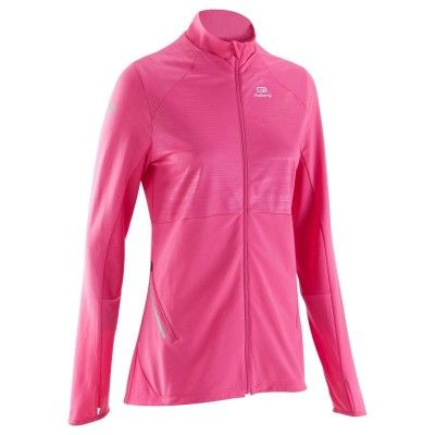 RUNNING Running Running, Trail, Athlétisme - ELIO COVER VESTE ROSE KALENJI - Textile running