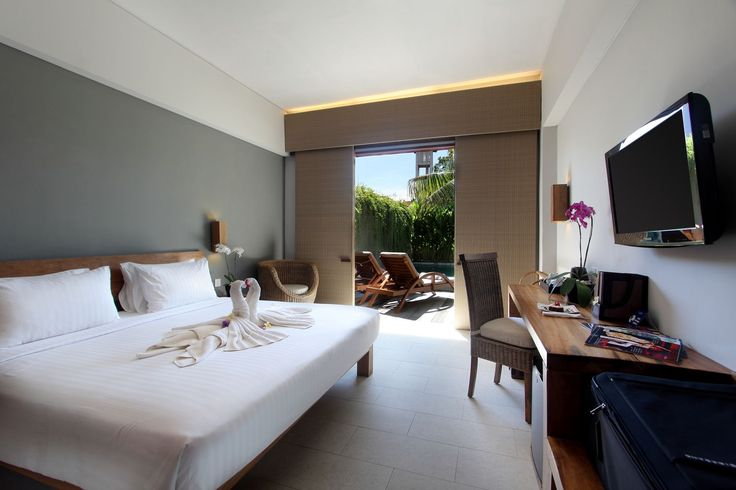 Our Cabana room at The Oasis Lagoon Sanur, Bali.