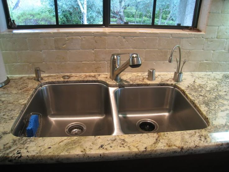 Sienna Bordeaux Granite Counters And Subway Tile