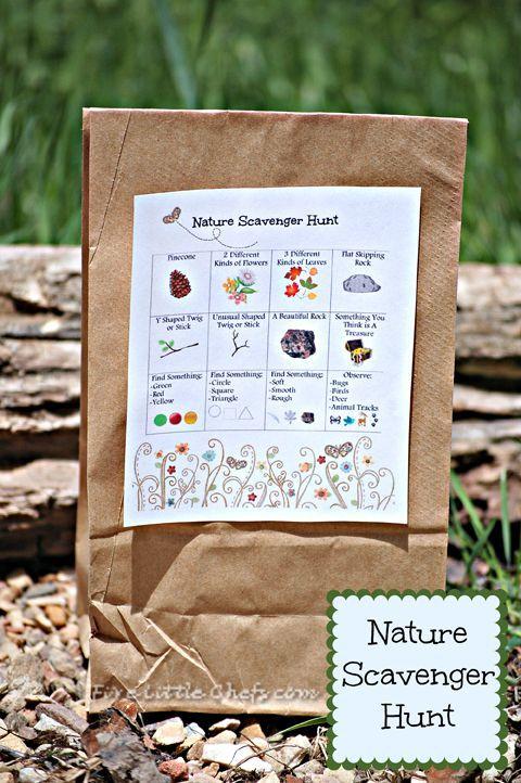 Caça Tesouro na Natureza - ideia genial para as crianças explorarem a natureza.