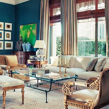James Costos and Interior Decorator Michael S. Smith at Home in Spain : Architectural Digest