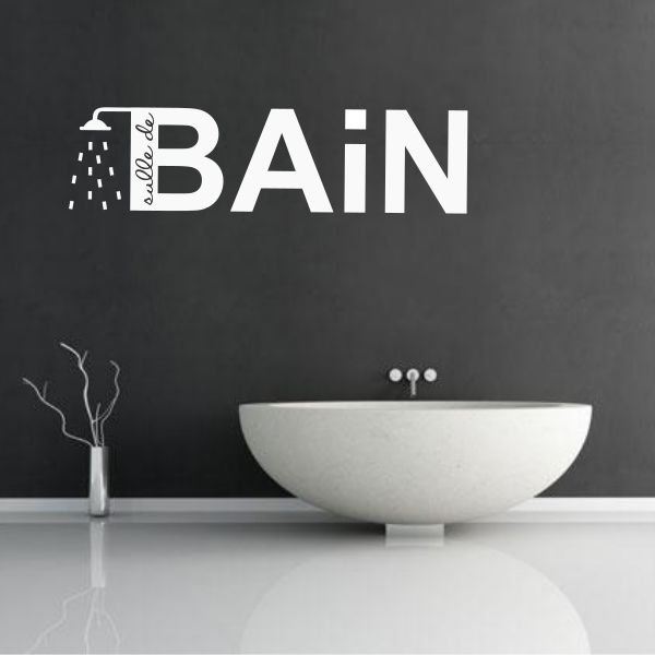Sticker douche pour la salle de bain