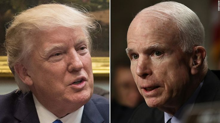 """Sen. John McCain slammed President Donald Trump's attacks on the media this week by noting dictators """"get started by suppressing free press."""""""