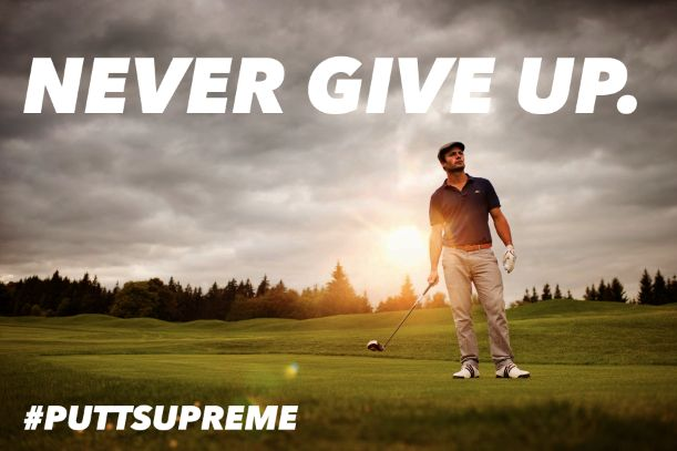 """NEVER GIVE UP""... Don't even think about giving up #Golf. Practice with PuttSupreme to improve your ""Puttin"" and your game. Learn more at: http://ift.tt/2kvsAbG #GolfDigest #PGATour #FredFunk"