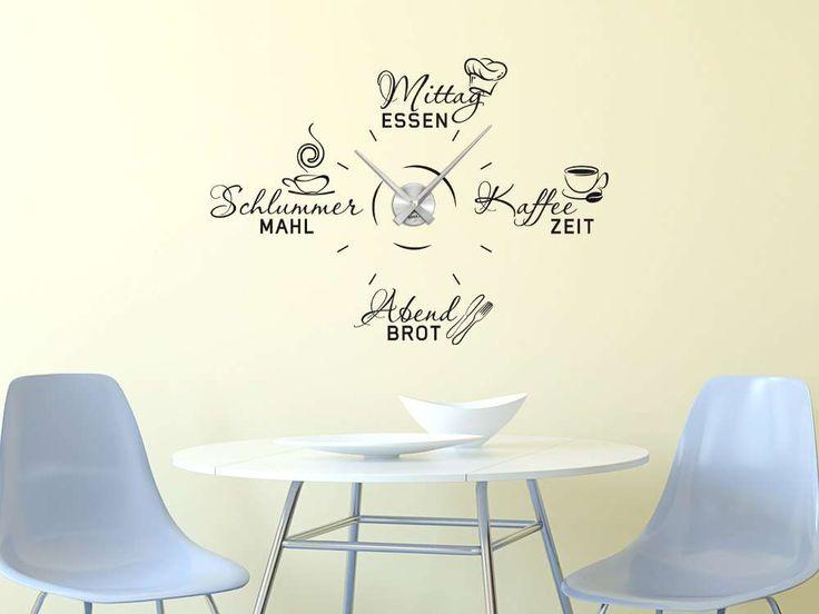 die besten 25 wandtattoo uhr ideen auf pinterest uhren wand kinderuhren und wanduhr selbst. Black Bedroom Furniture Sets. Home Design Ideas