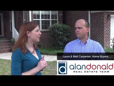 Laura and Matthew Carpenter from MUSC talk about their home buying experience with The Alan Donald Real Estate Team.