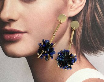 Gold Drop Earrings, Minimalist Drop Earrings, Dainty earrings, Delicate, Dangle Earrings, Big Fringe Earrings, Long Earrings,Tribal Earrings