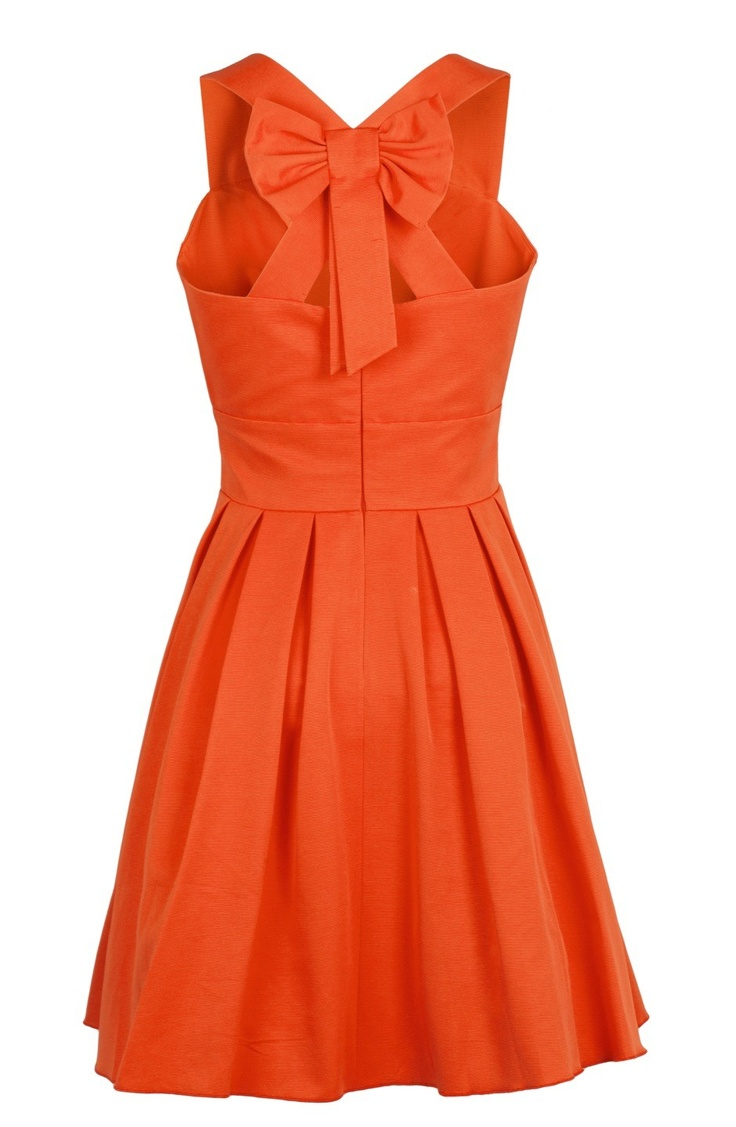 robe noeud ottoman orange SINEQUANONE