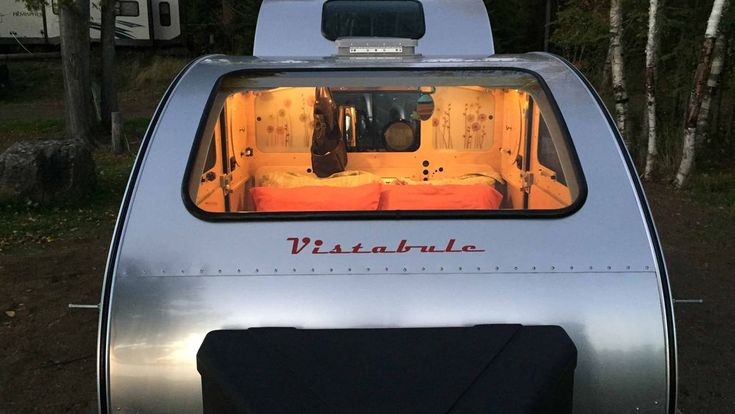 Forget sleeping in a tin can, the Vistabule boasts picture windows that make other teardrop campers look claustrophobic.