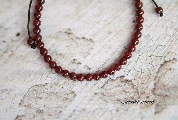 Men bead bracelet Garnet bracelet gift for her couple gift