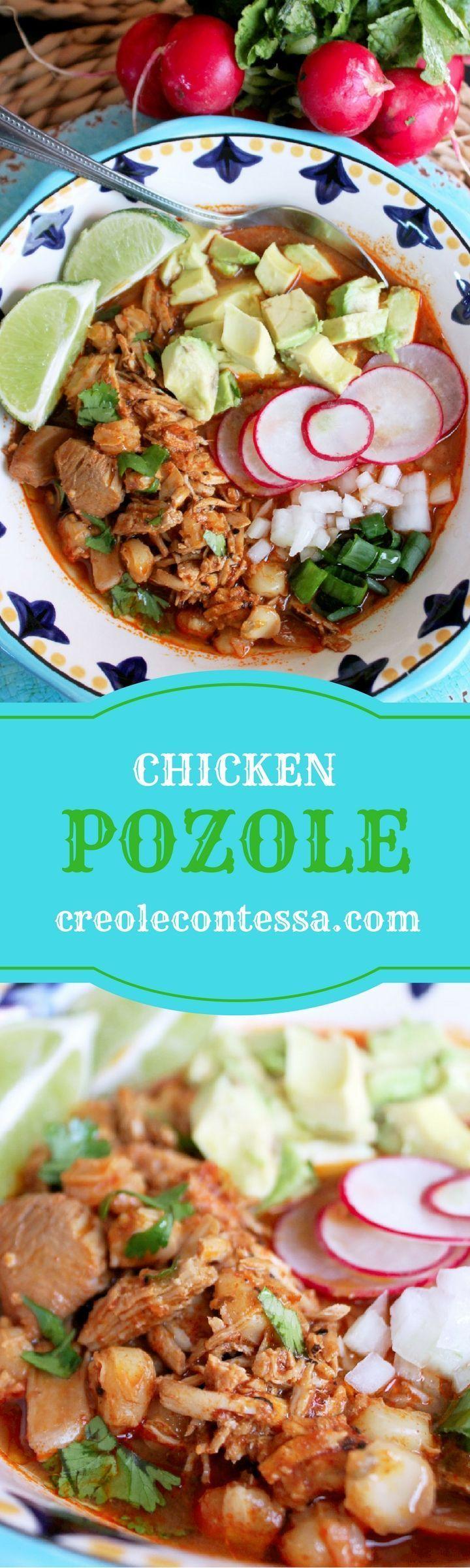 Slow Cooker Chicken Pozole-Creole Contessa