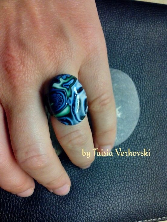 Ring with polymer clay