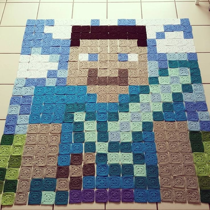 Crochet Minecraft Blanket Pattern by The Loopy Stitch @ http://www.theloopstitch.com Free Pattern.