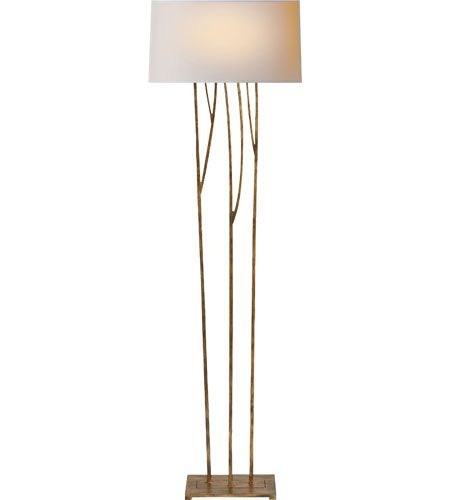 Visual Comfort Studio Aspen 2 Light Decorative Floor Lamp in Gilded Iron with Wax S1050GI-NP #visualcomfort #lightingnewyork #lighting