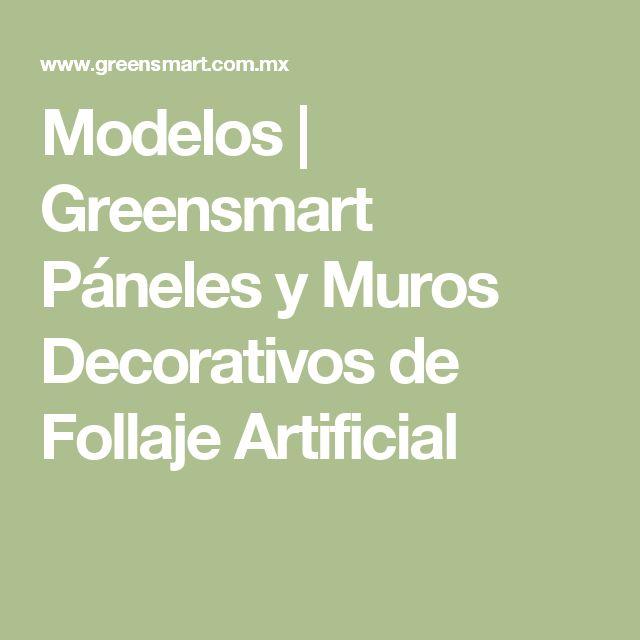 Modelos | Greensmart Páneles y Muros Decorativos de Follaje Artificial