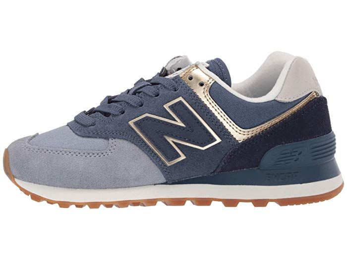 sale retailer 20f5a 397f7 New Balance Classics 574 Metallic Patch at Zappos.com ...
