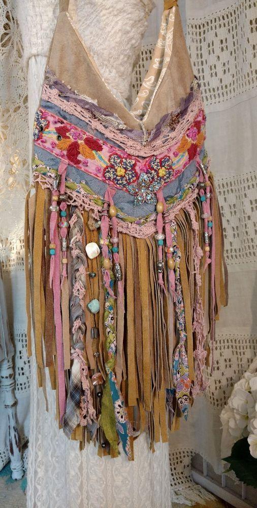 Handmade Tan Suede Leather Fringe Bag Festival Boho Gypsy Hippie Purse tmyers | Clothing, Shoes & Accessories, Women's Handbags & Bags, Handbags & Purses | eBay!
