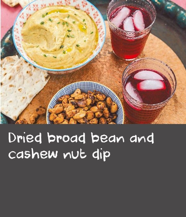 Dried broad bean and cashew nut dip | This wonderful dip has taken over from hummus in my house. Dried broad beans are underrated in Western culture. So many people who have tasted this dip have told me they didn't even know you could find dried broad beans. You can, although you may need to hunt around a little. But when you find them, stock up, as they store well and have many uses. I invented this recipe by accident. One day, with only one packet of broad beans left, I opened my cupboard…