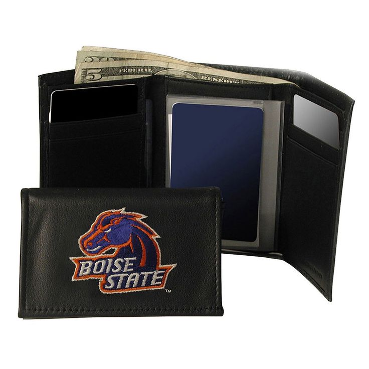 Boise State University Broncos Trifold Leather Wallet, Adult Unisex, Multicolor