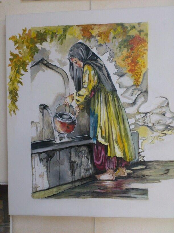 Su dolduran kız