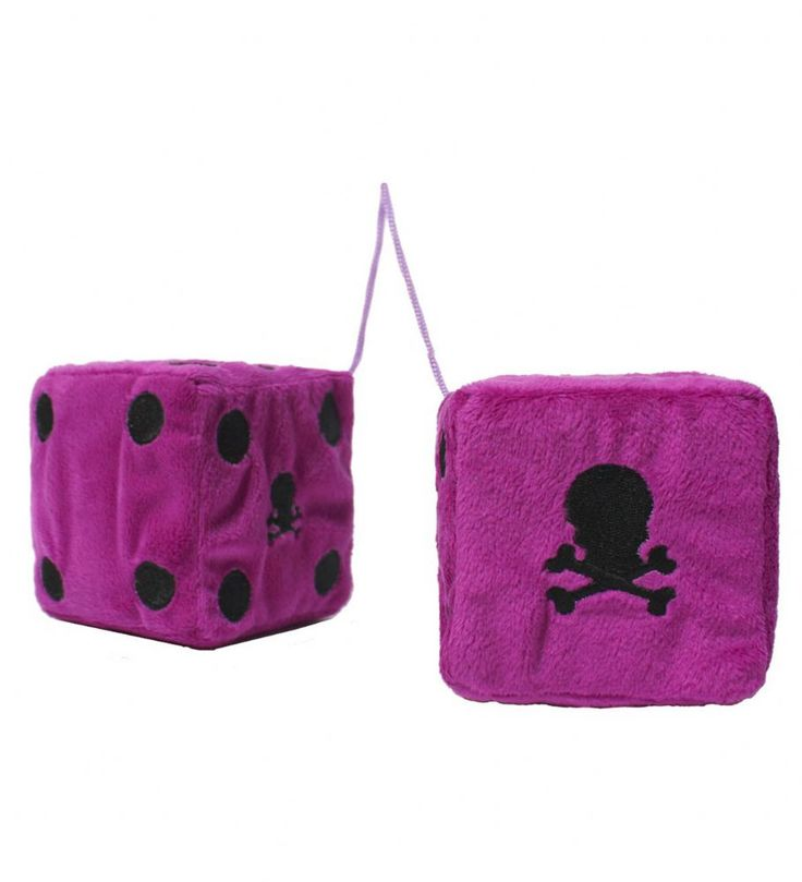 How about skull furry dice to give your ride that alternative look Plush furry dice with skull detail to hang over your rear view mirror http://www.badsheepboutique.com/skull-furry-dice---purple-274-p.asp
