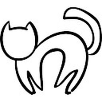 Image result for outline of a cat