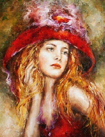 ufukorada:  Artist: Elzbieta Brozek A witty woman is a treasure; a witty beauty is a power.— George Meredith Zeki bir kadın hazine'dir, güzel ve zeki bir kadın ise, güç'tür.!