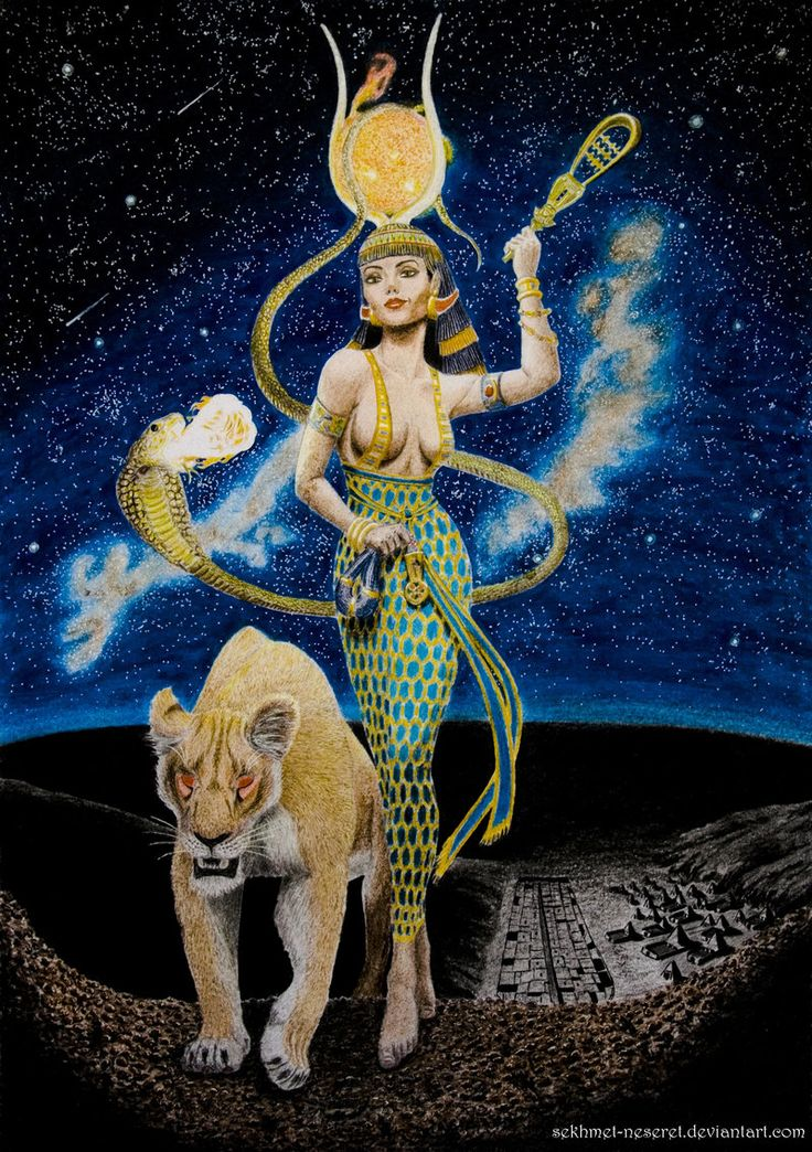 Hathor, The Golden One by sekhmet-the-flame.deviantart.com on @deviantART