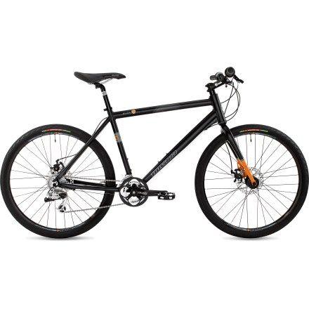 Buzz Flat Black Hybrid Bicycle
