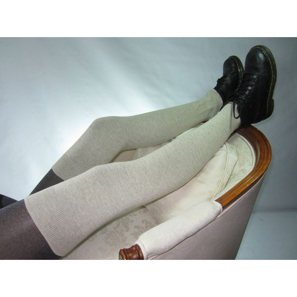 Plus Size Clothing Leg Warmers Over the Knee Socks Cashmere Coton... ($23) ❤ liked on Polyvore featuring intimates, hosiery, grey, leg warmers, women's clothing, tan leg warmers, cashmere leg warmers, over the knee hosiery, thigh high hosiery and gray leg warmers