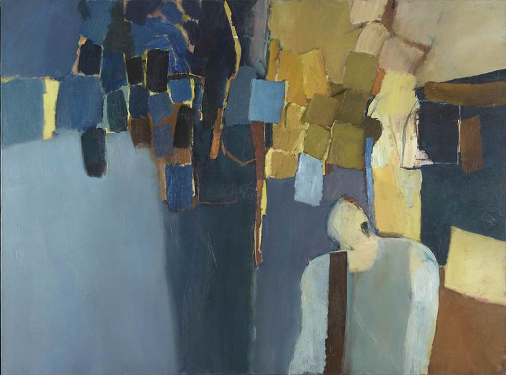 Keith Vaughan, Landscape with Figure: Morelos, oil on canvas, 1959