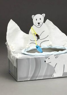 Learn how to make this polar bear toss right here. | winter kids crafts