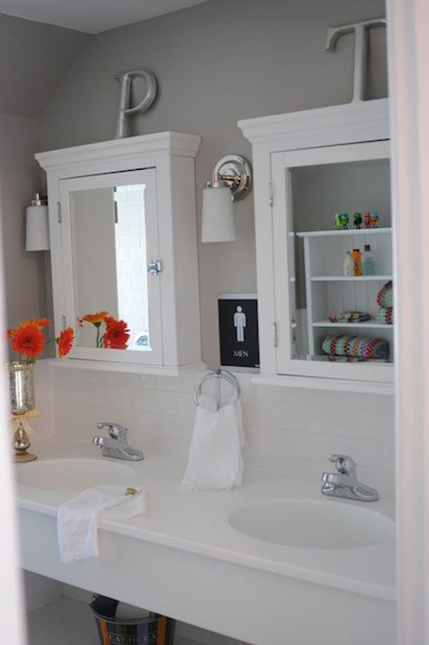 .: Mirror, House Ideas, Dream, Bathroom Idea, White Bathroom, Ideal House, Bathroom Cabinets