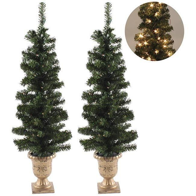 #Xmas trees with pot and lights! www.inart.com