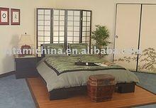 Rey/queen size de madera tatami zen plataforma de la cama