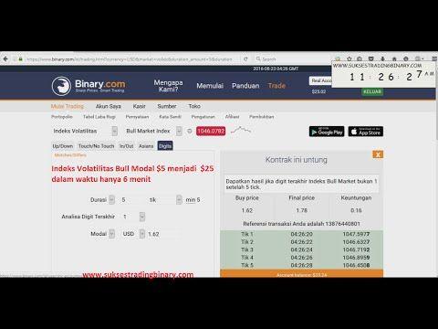 Video Trik Trading Mudah Modal $5 Menjadi $25 Hanya dalam waktu 6 Menit pada…