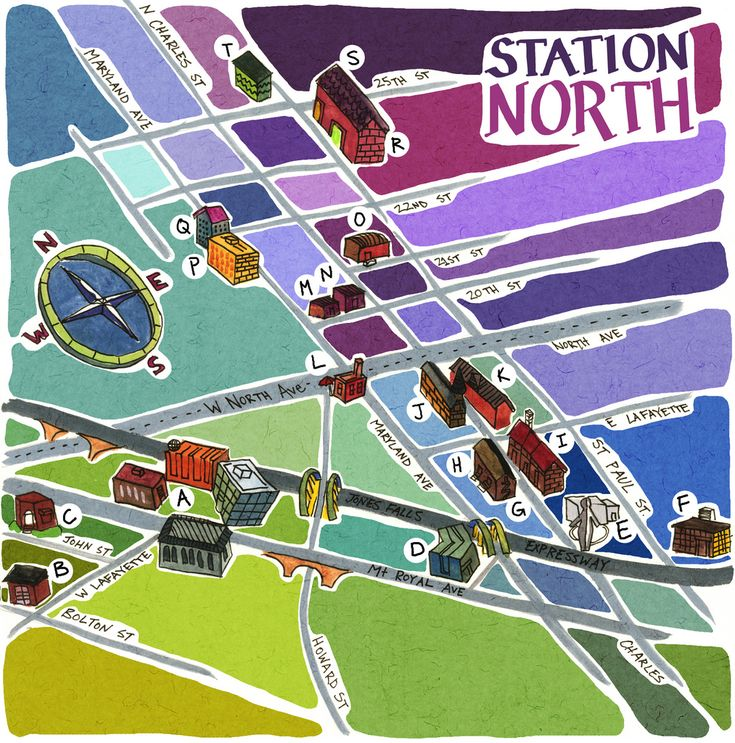 """Station North"" (By: CalebLukeLin): Maps Obsession, Call Maps, Stations North, Baltimore Maps, Guide Maps"