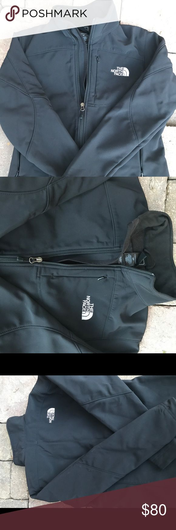 Black North Face Windbreaker Brand new, never worn black North Face windbreaker with fleece inside and also water resistant. Like new. The North Face Jackets & Coats Utility Jackets