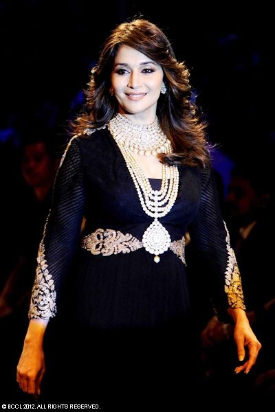 Madhuri Dixit at India International Jewellery Week (IIJW)in Mumbai.