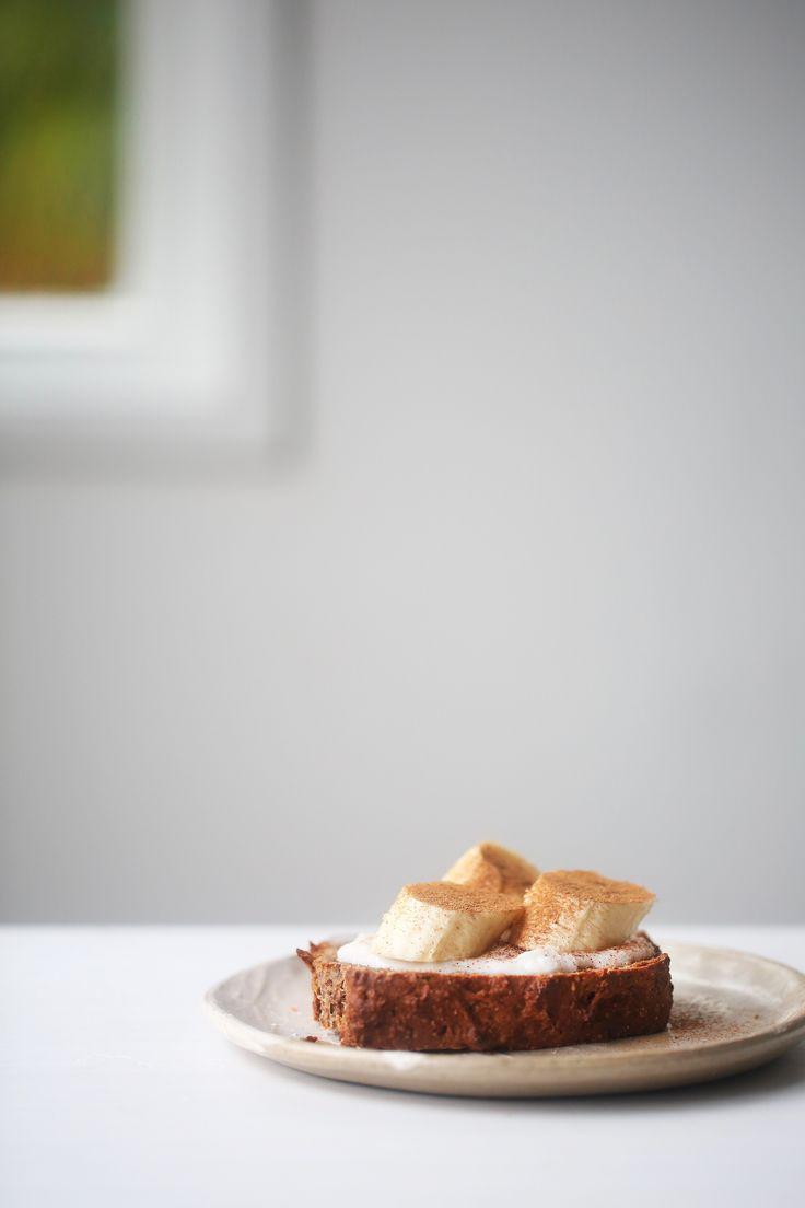 Vegan Gluten Free BANANA WALNUT BREAD - healthy, low sugar, recipe, breakfast, no refined sugar, dairy free, egg free