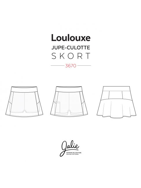 Jalie Sewing Pattern 3670 - LOULOUXE - Line Drawings